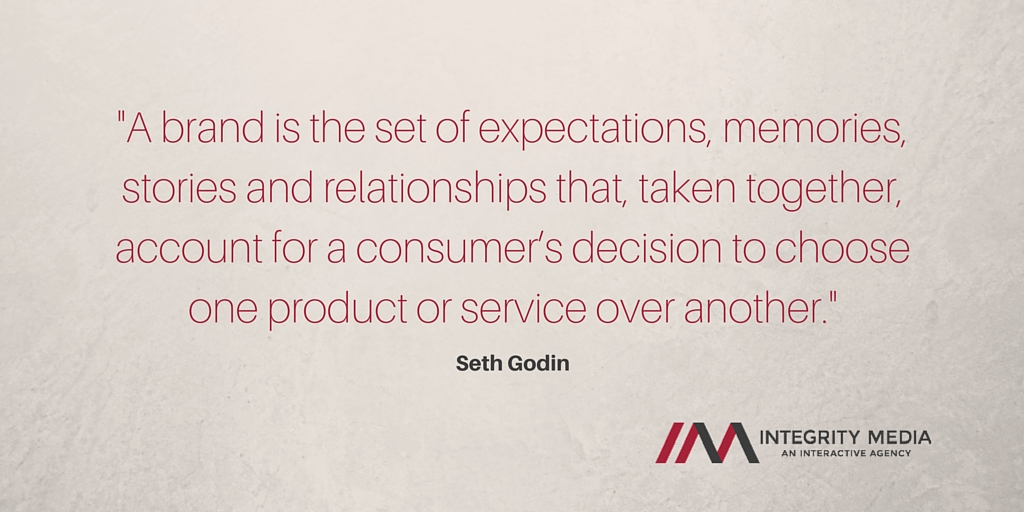 A brand is the set of expectations, memories, stories and relationships that, taken together, account for a consumer's decision to choose one product or service over another.